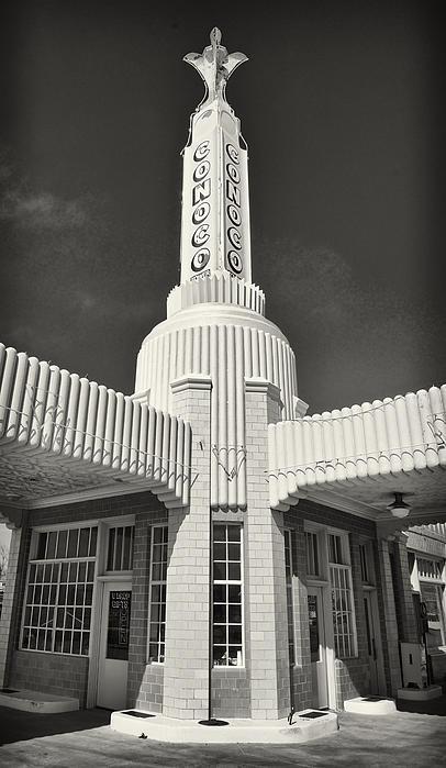 Art Deco Gas Station Shamrock Texas Print by Mary Lee Dereske