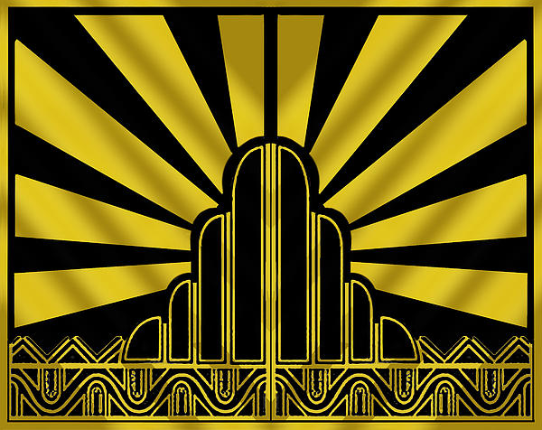 Art deco poster two galaxy s4 case for sale by chuck staley for Posters art prints