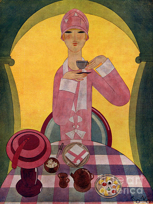 Art Deco Tea Drinking 1926 1920s Spain Print by The Advertising Archives