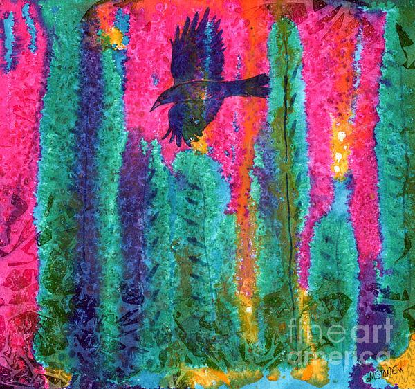 As The Crow Flies Print by Marie Stone Van Vuuren