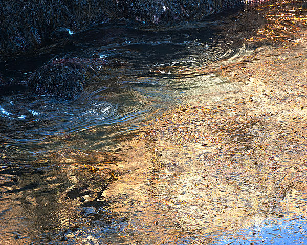 As The Ocean Wave Swirled It Looked Like Gold Print by Artist and Photographer Laura Wrede