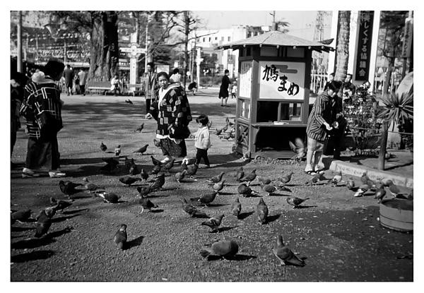 Asakusa Street Scene Print by The  Vault - Jennifer Rondinelli Reilly