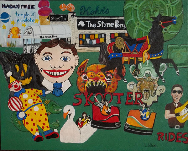 Asbury Park Days Gone By Print by Norma Tolliver