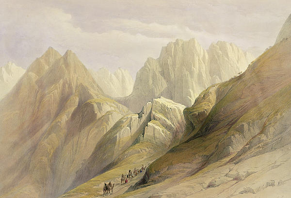 Ascent Of The Lower Range Of Sinai Print by David Roberts