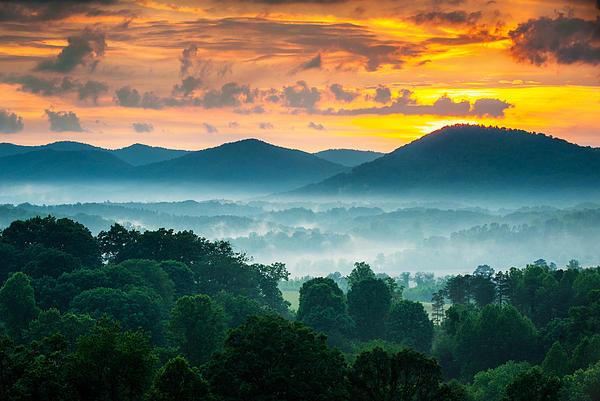 Dave Allen - Asheville NC Blue Ridge Mountains Sunset - Welcome to Asheville