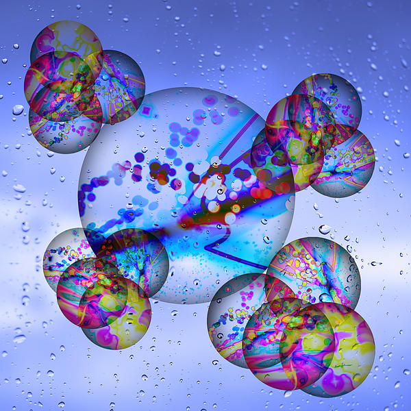 Asian Bubbles In Rain Print by Anthony Caruso
