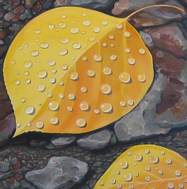 Aspen Rain Print by Hunter Jay