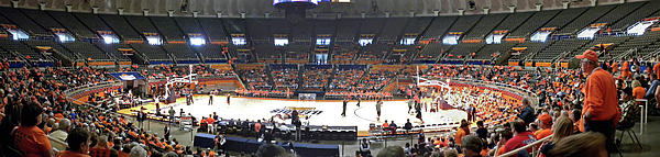 Assembly Hall University Of Illinois Print by Thomas Woolworth