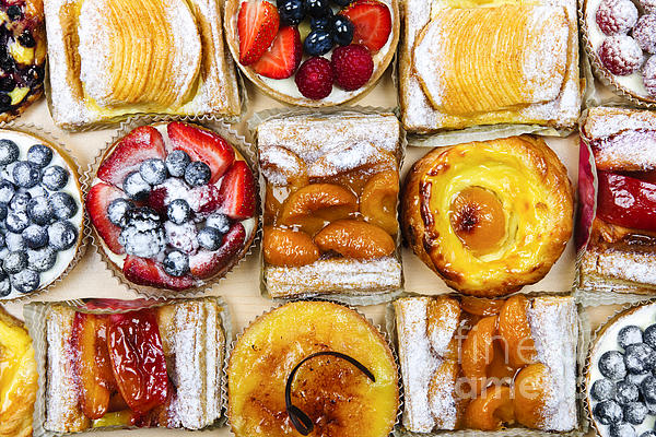 Assorted Tarts And Pastries Print by Elena Elisseeva