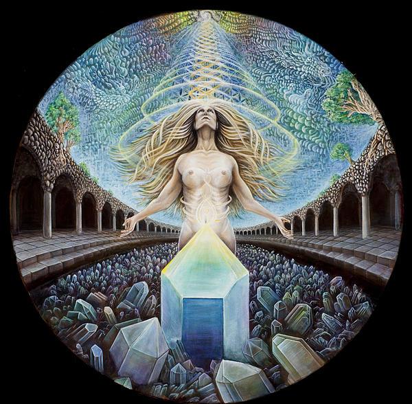 Astral Emergence Print by Morgan Mandala Manley
