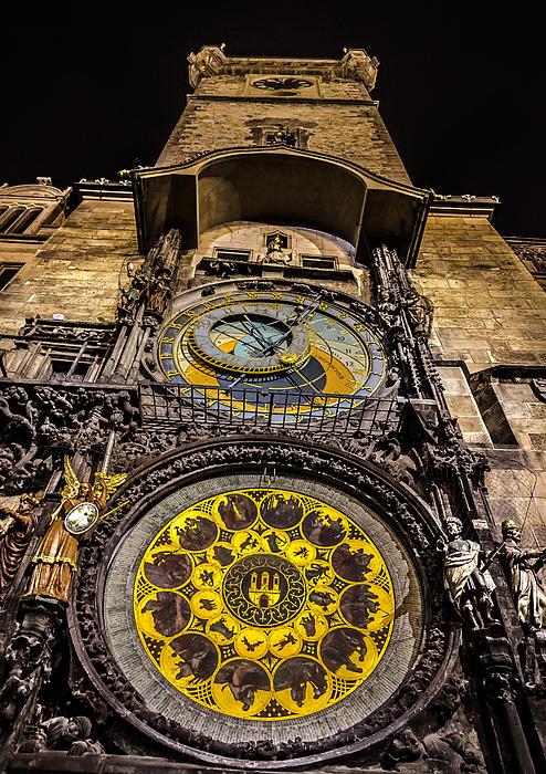 Astronomical Clock Print by Matthew Gulosh