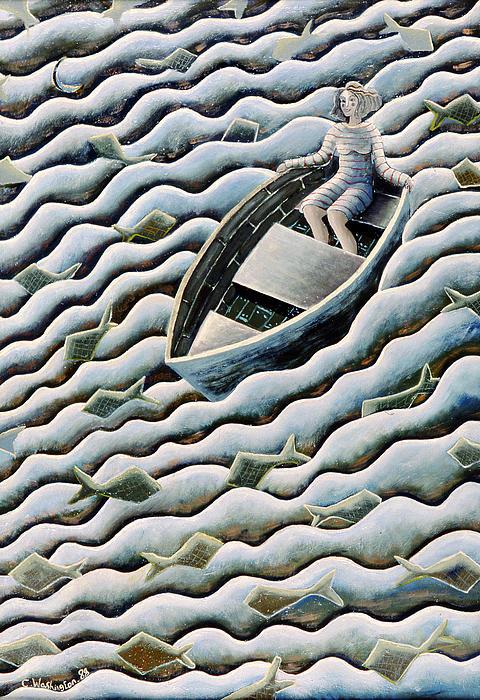 At Sea Print by Celia Washington