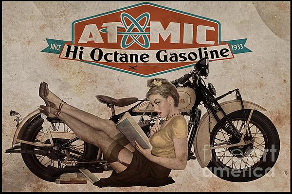 Atomic Gasoline Print by Cinema Photography