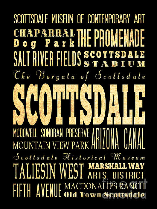 Attraction And Famous Places Of Scottsdale Georgia Print by Joy House Studio
