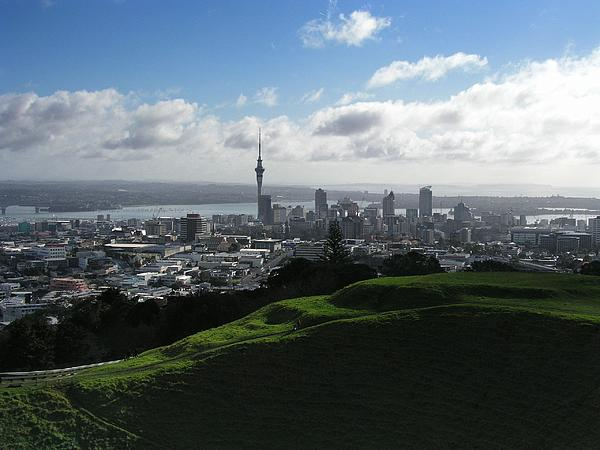 Auckland With Mt. Eden Print by David and Mandy