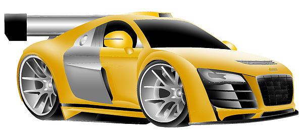 Audi Toon Digital Print by Lyle Brown