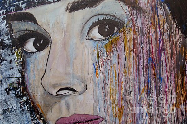 Audrey Hepburn-abstract 2 Print by Ismeta Gruenwald