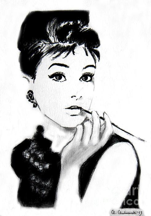 Audrey Hepburn Print by Anna Androsovski