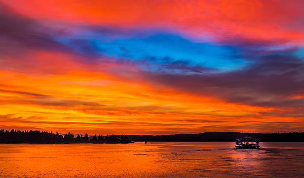 August 14th Sunrise Print by Mike Thompson