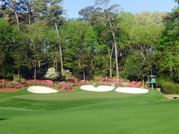 Augusta National - Hole 13 Print by Bo  Watson