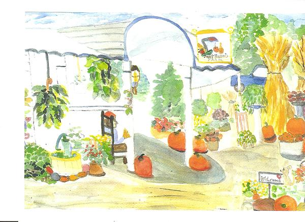 Aunt Helen's Farm Print by Thelma Harcum