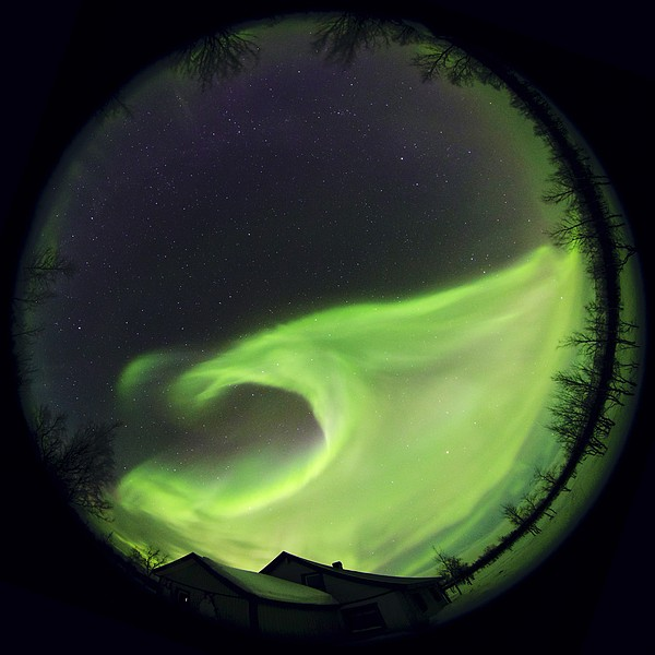 Aurora Borealis, Lapland, Sweden Print by Science Photo Library