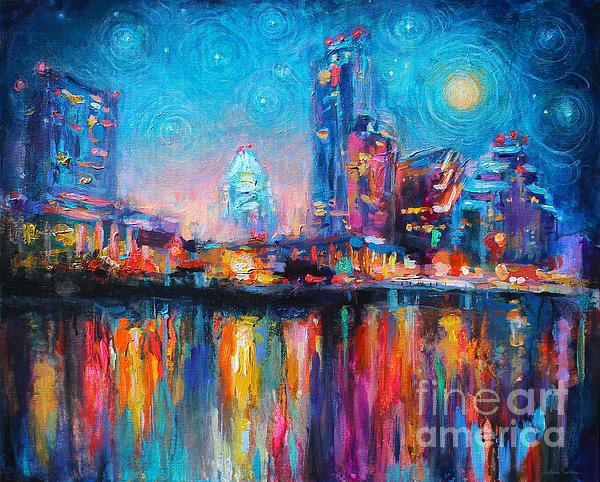 Austin Art impressionistic skyline painting #2 Painting