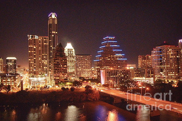Austin Lights The Night Print by Terry Rowe