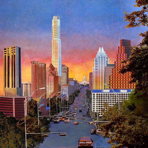 Austin Sunset Print by Dan Terry