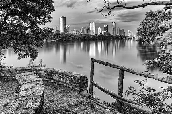 Austin texas black and white
