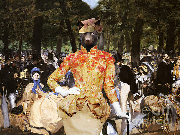 Australian Kelpie Canvas Print - Music With Tuileries Print by Sandra Sij