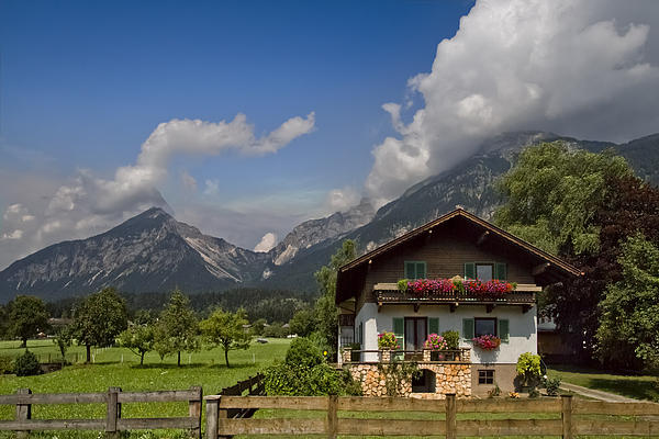 Austrian Cottage Print by Debra and Dave Vanderlaan
