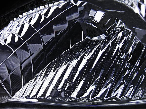 Auto Headlight 141 Print by Sarah Loft