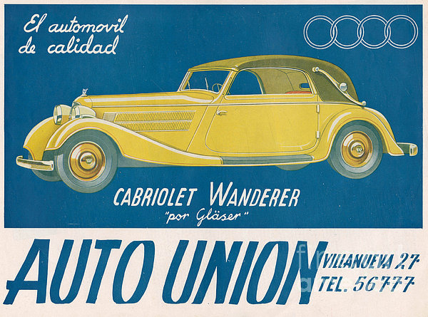 Auto Union Audi 1930s Usa Cc Cars Print by The Advertising Archives