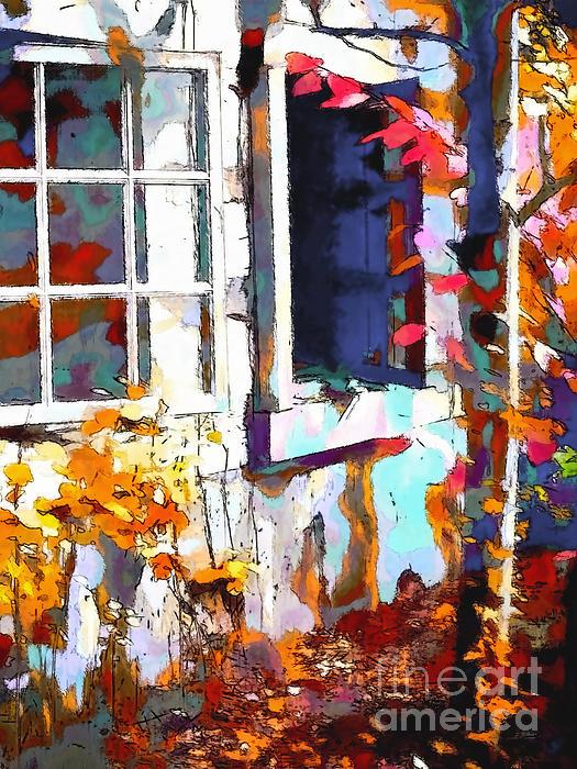Autumn Breeze Through Open Windows    Windows Print by Barbara D Richards