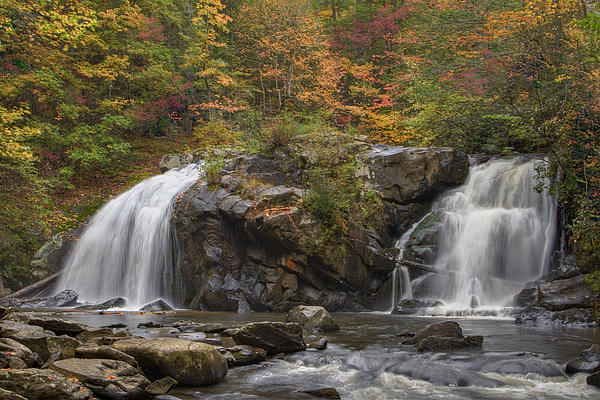 Autumn Cascades Print by Debra and Dave Vanderlaan
