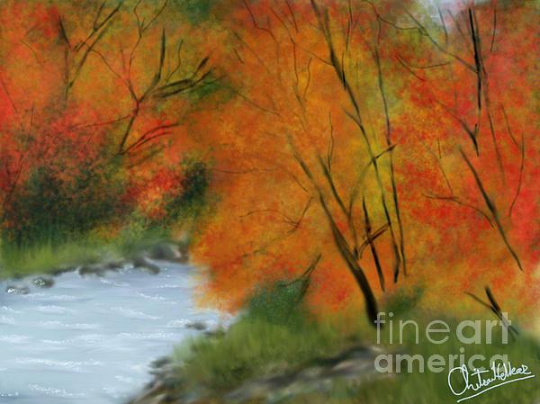 Autumn Print by Chitra Helkar