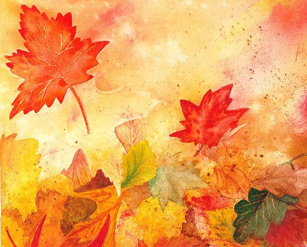 Autumn Dance Print by Irina Sztukowski
