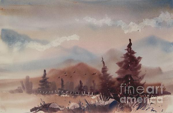 Autumn Fog Print by Micheal Jones
