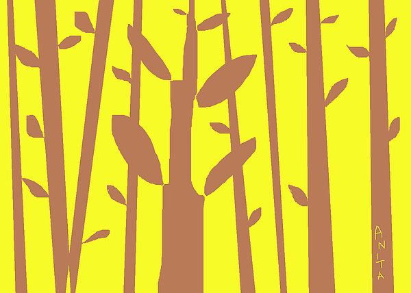 Autumn Forest Print by Anita Dale Livaditis