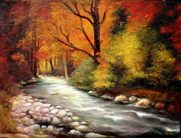 Autumn In The Forest Print by Sorin Apostolescu
