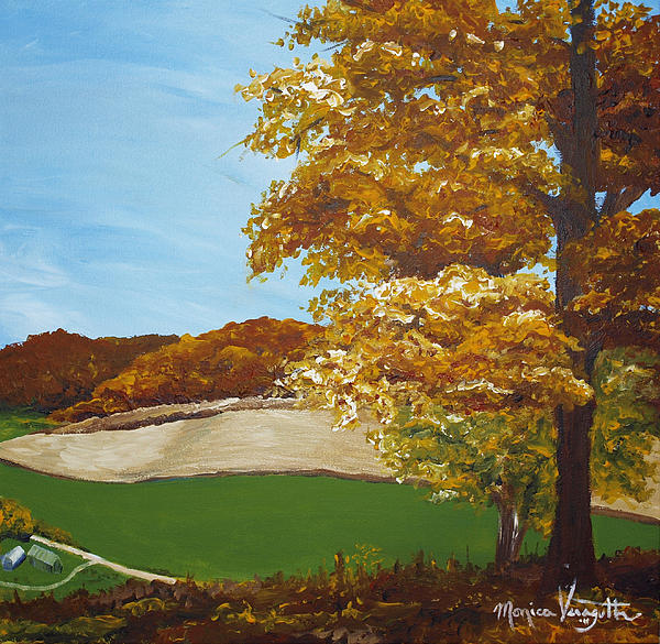 Autumn In The Valley Print by Monica Veraguth