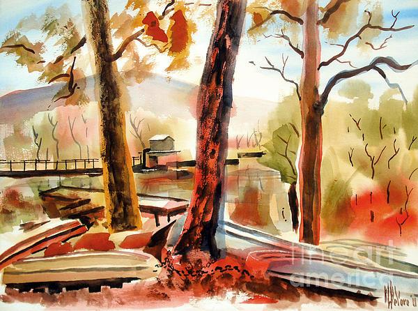 Autumn Jon Boats II Print by Kip DeVore