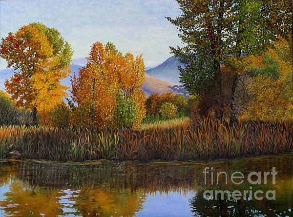 Autumn Light Print by Beverly Theriault
