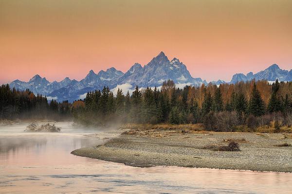 Autumn Mist Print by Mark Kiver
