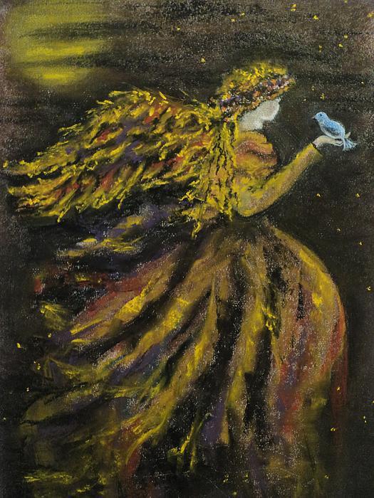 Autumn Moon Angel Print by Carla Carson