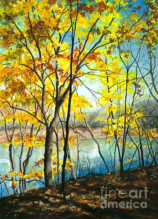 Barbara Jewell - Autumn River Walk