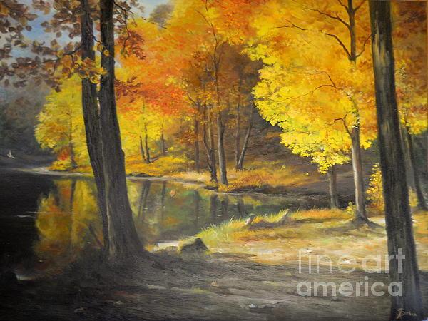 Autumn Silence  Print by Sorin Apostolescu