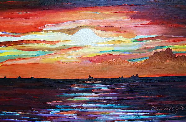 Misuk Jenkins - Autumn Sunset on the Baltic sea