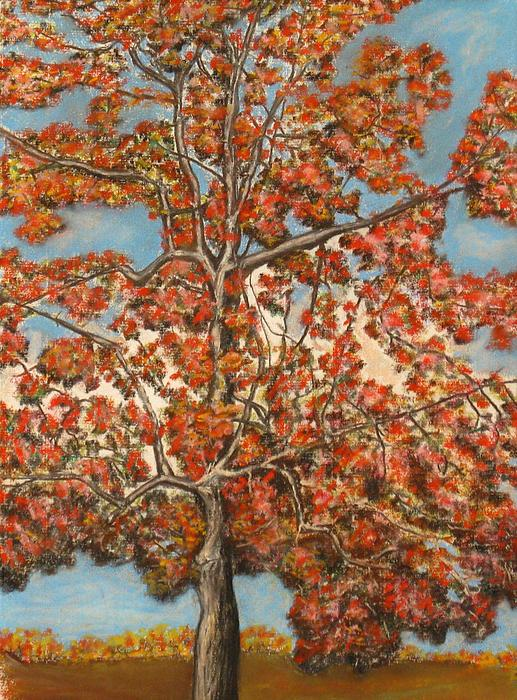 Autumn Tree Print by Michael Anthony Edwards